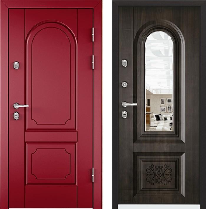 Дверь Torex Snegir 45 РP OS45-03 RAL-3005 (красное вино)  OS45-03  Дуб морёный