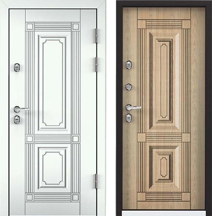 Дверь Torex Snegir 45 РP OS45-02 RAL-9016 (белый)  S45-03 КТ Дуб бежевый