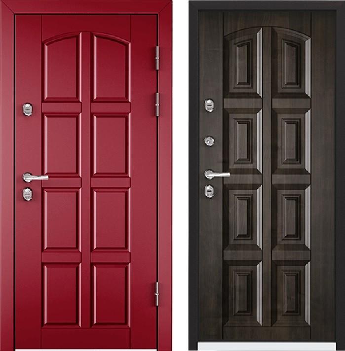 Дверь Torex Snegir 45 РP OS45-04 RAL-3005 (красное вино)  OS45-04 Дуб морёный