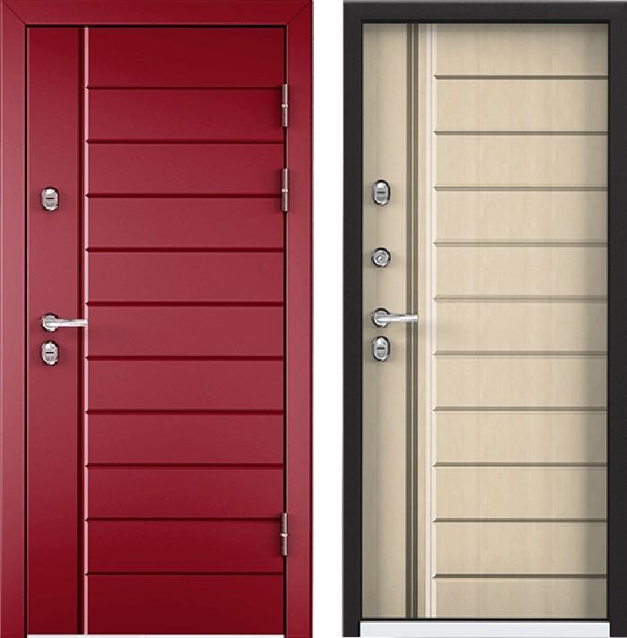 Дверь Torex Snegir 45 РP OS45-07 RAL-3005 (красное вино)  S45-07  Перламутр белый