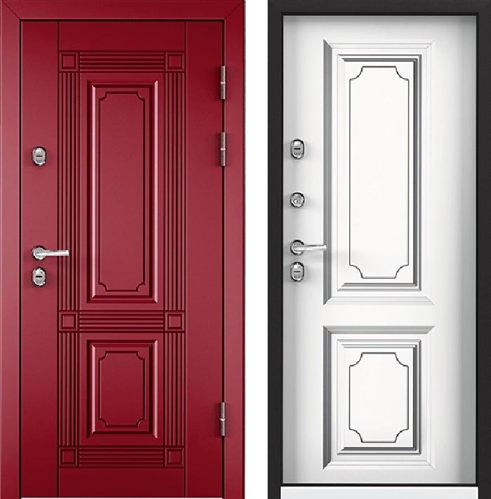 Дверь Torex Snegir 45 РP OS45-02 RAL-3005 (красное вино)  S45-05 КТ Белый