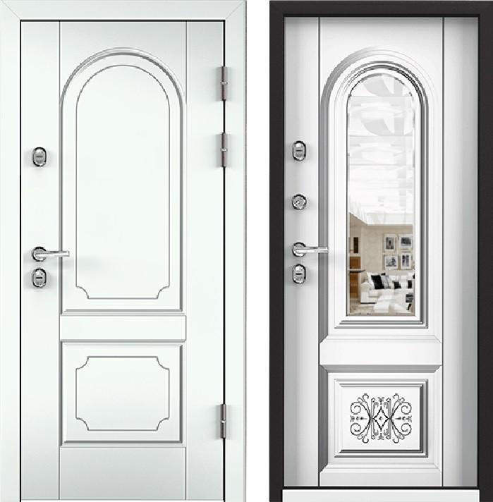 Дверь Torex Snegir 45 РP OS45-03 RAL-9016 (белый)  S45-03 (зеркало)  КТ Белый