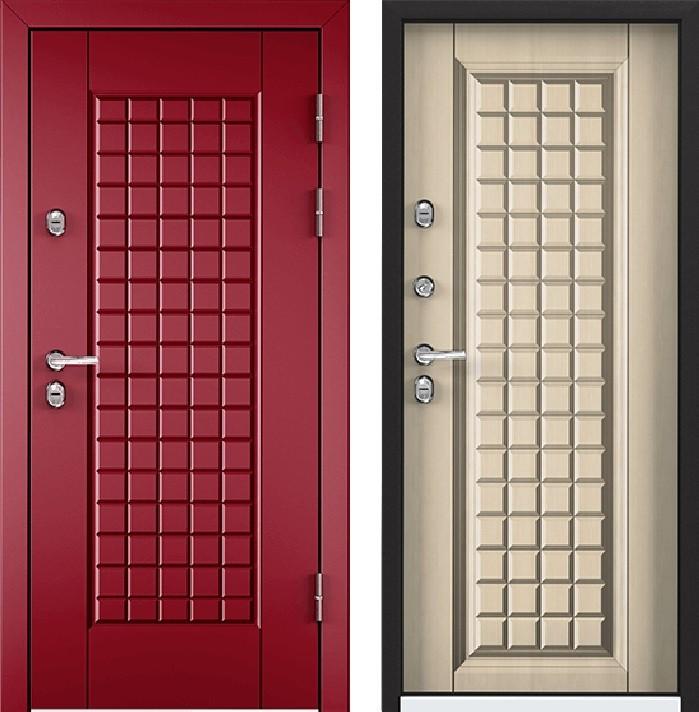 Дверь Torex Snegir 45 РP OS45-09 RAL-3005 (красное вино)  S45-09  Перламутр белый