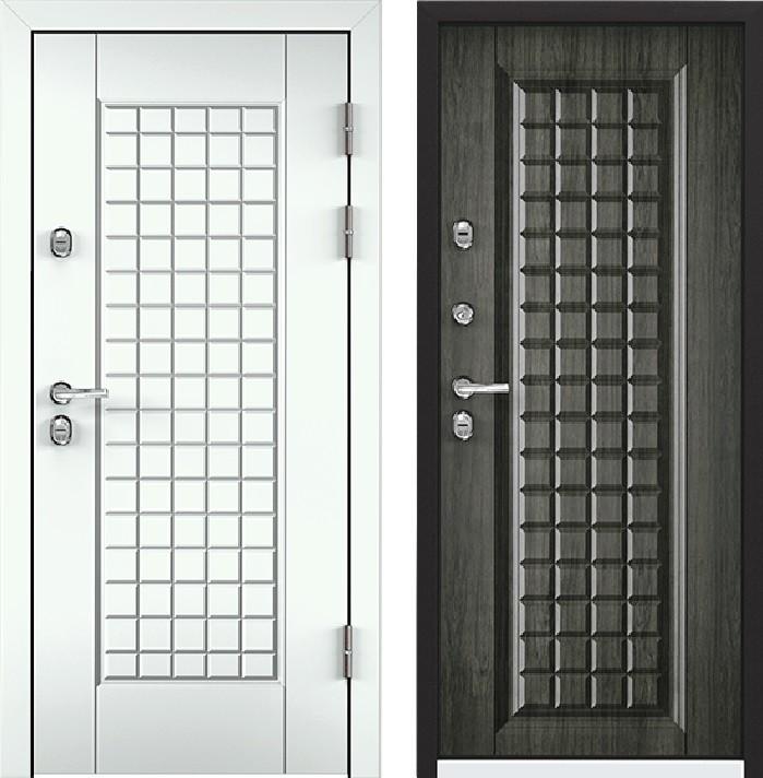 Дверь Torex Snegir 45 РP OS45-09 RAL-9016 (белый)  S45-09 Дуб пепельный