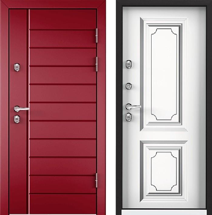 Дверь Torex Snegir 45 РP OS45-07 RAL-3005 (красное вино)  S45-05  КТ Белый