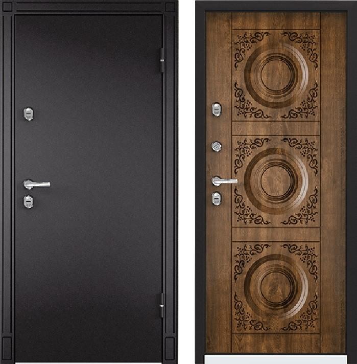 Дверь Torex Snegir 45 МP RAL- 8019 (горячий шоколад)  S45-01  Дуб медовый
