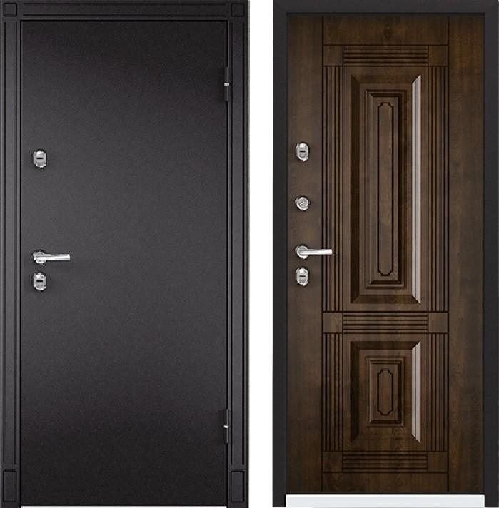 Дверь Torex Snegir 45 МP RAL- 8019 (горячий шоколад)  S45-02  Орех грецкий