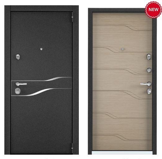 Дверь Torex SUPER OMEGA 100 SP-15 Черный муар металлик SO-HT-6 ПВХ Дорс светлый горизонт