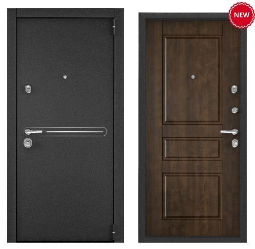 Дверь Torex SUPER OMEGA 100 SP-16 Черный муар металлик SO-NC-2 КТ Орех грецкий
