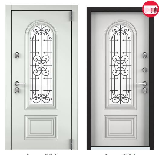 Дверь Torex Snegir Соttage 02 SNG-2 RAL 9016 белый SNG-2 КТ Белый