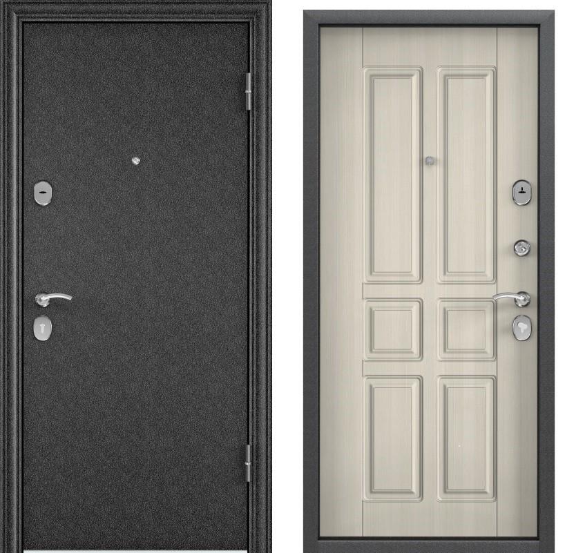 Дверь Дельта 100  Черный шелк/ПВХ белый перламутр D 12