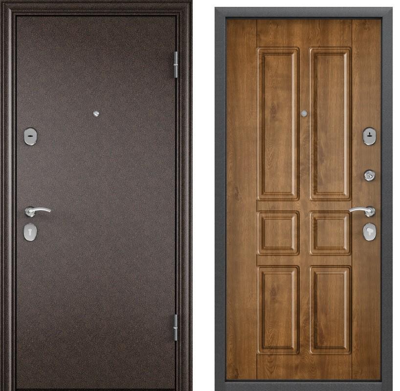Дверь Дельта 100  Медный антик RGSO/Кт Дуб медовый D 12
