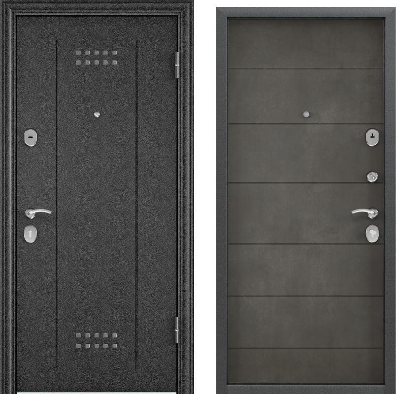 Дверь Дельта 100  Черный шелк DL-2/ПВХ бетон серый D22