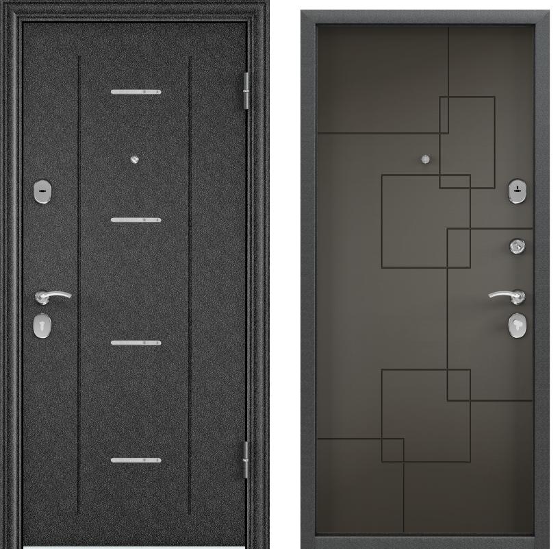 Дверь Дельта 100  Черный шелк DL1/ПВХ белый перламутр D21