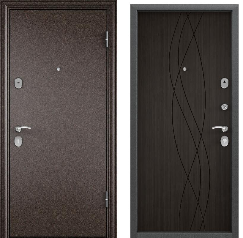 Дверь Дельта 100  Медный антик/ПВХ КОНГО венге D 17
