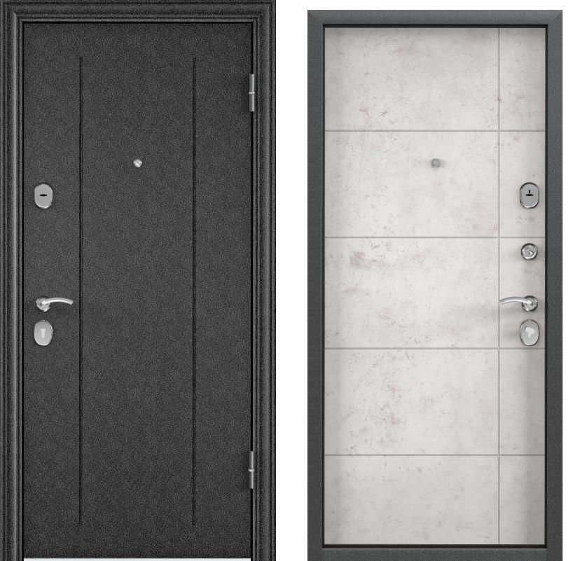 Дверь Дельта 100  Черный шелк RGSO/ПВХ бетон белый D 23
